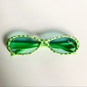 Accessories - Kids Frog Patterned Green Sunglasses
